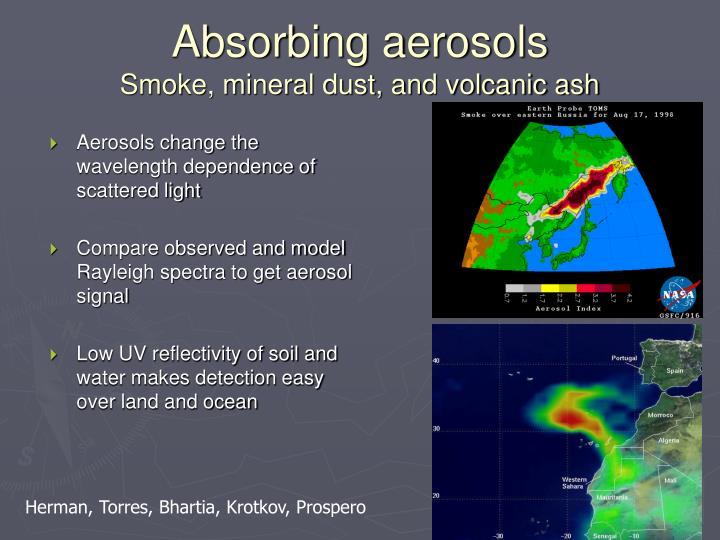 Aerosols change the wavelength dependence of scattered light