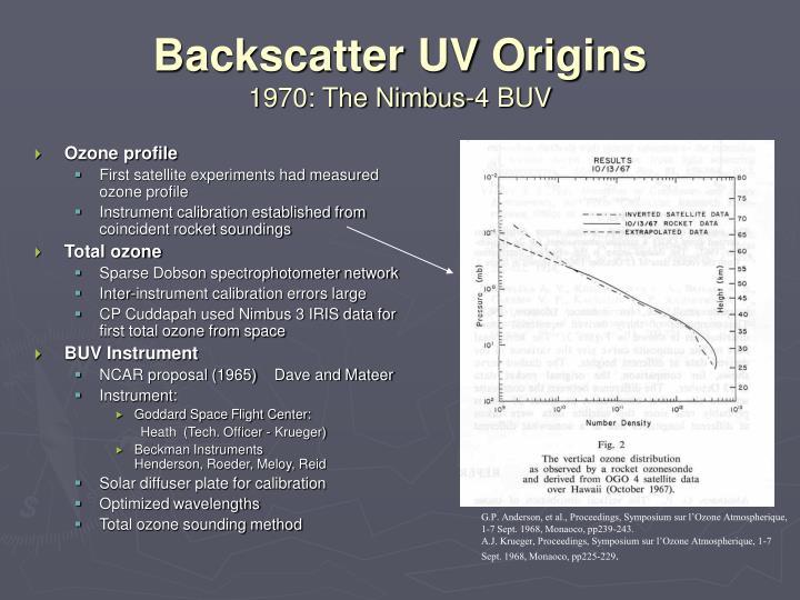 Backscatter UV Origins