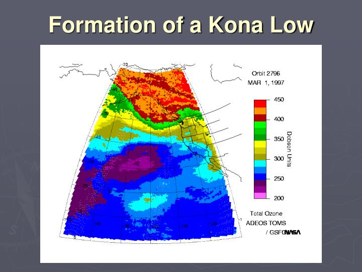 Formation of a Kona Low