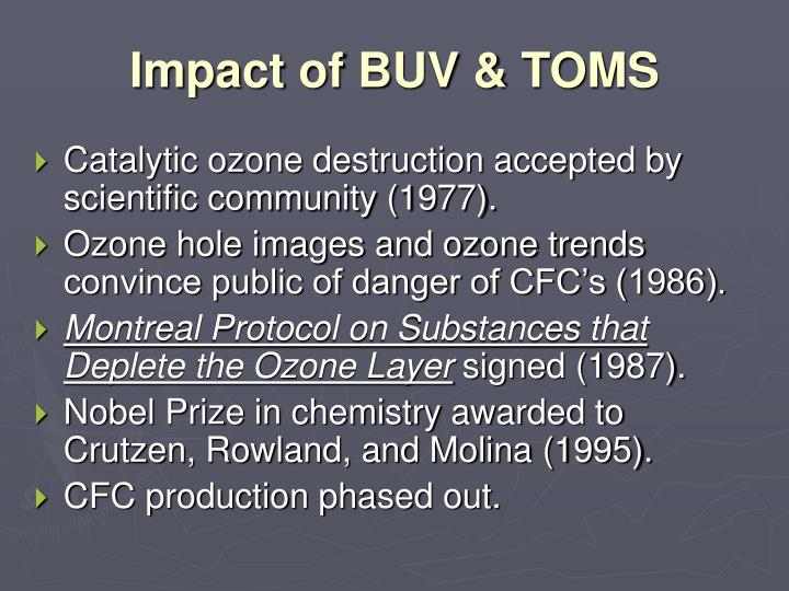 Impact of BUV & TOMS