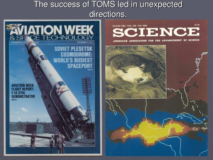 The success of TOMS led in unexpected directions.