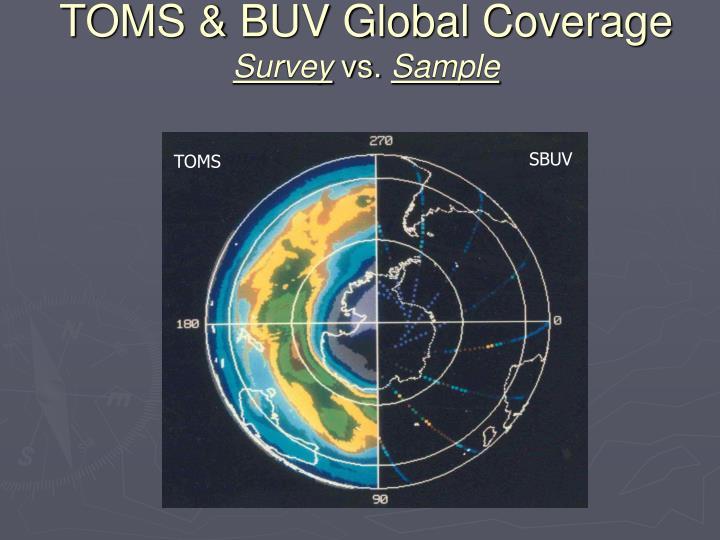 TOMS & BUV Global Coverage