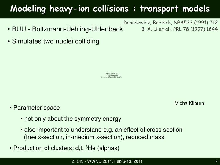 Modeling heavy-ion collisions : transport models