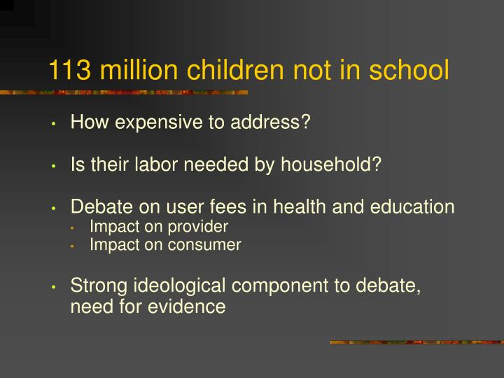 113 million children not in school