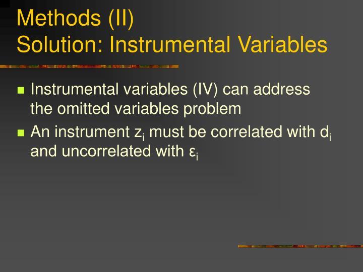 Methods (II)