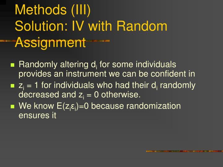 Methods (III)