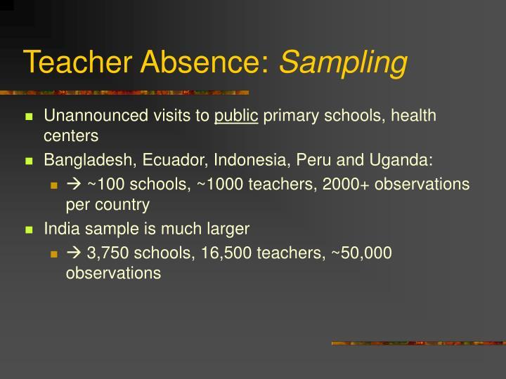 Teacher Absence: