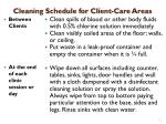 cleaning schedule for client care areas1