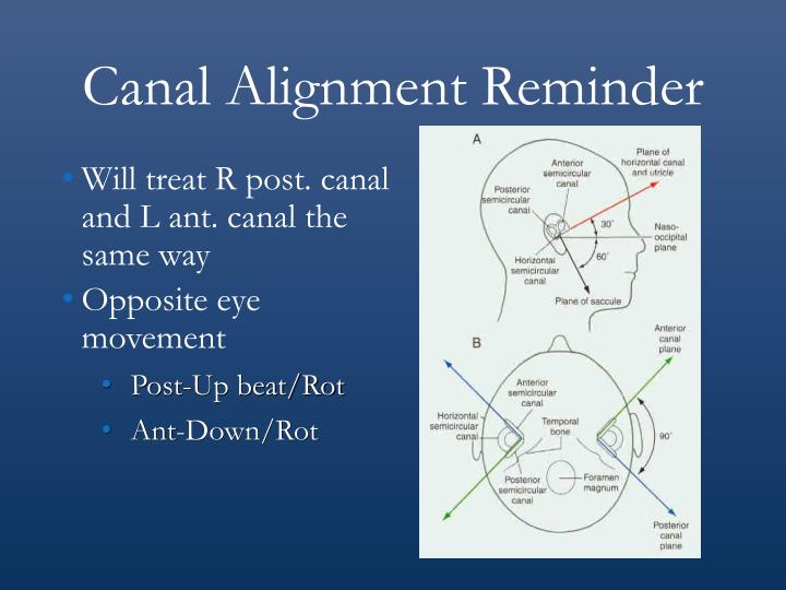 Canal Alignment Reminder