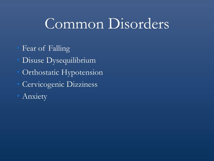 Common Disorders