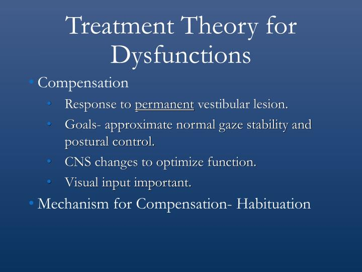 Treatment Theory for Dysfunctions