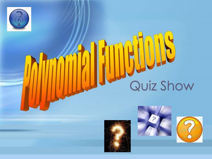 quiz show n.