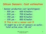 silicon sensors cost estimation2