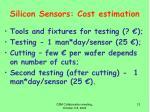 silicon sensors cost estimation3