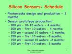 silicon sensors schedule