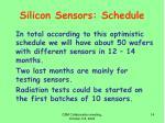 silicon sensors schedule1