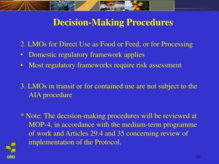 Decision-Making Procedures