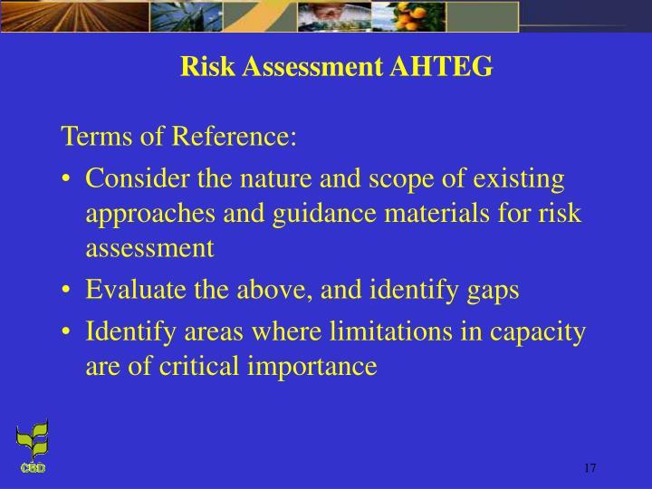 Risk Assessment AHTEG