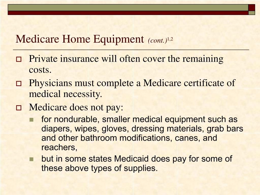Does Medicaid Cover Bathroom Equipment