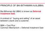 principle of bai bithaman ajil bba