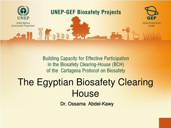 the egyptian biosafety clearing house n.