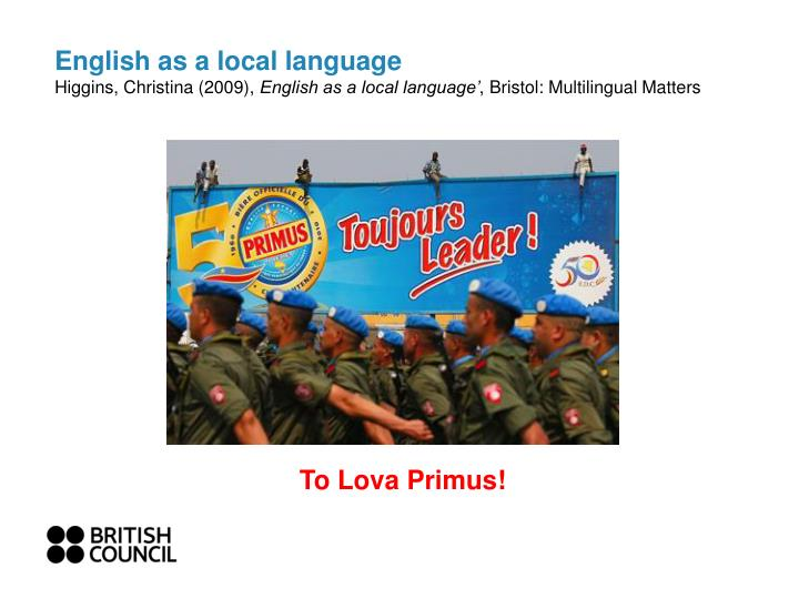 english as a local language higgins christina