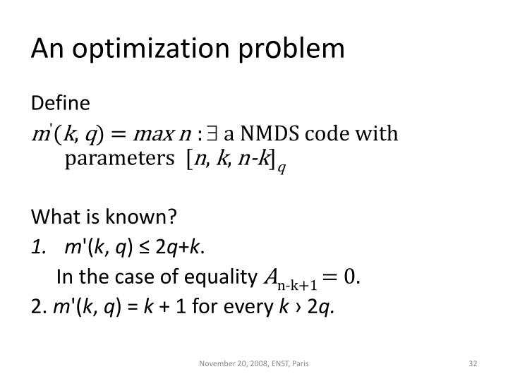 An optimization pr