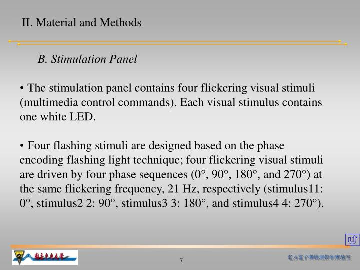 II. Material and Methods