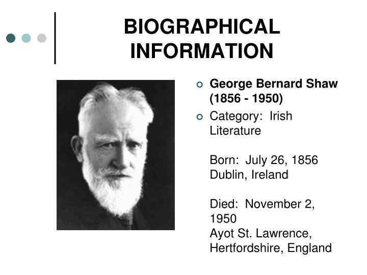 geroge bernard shaw essay The george bernard shaw is one of the most popular assignments among students' documents if you are stuck with writing or missing ideas, scroll down and find inspiration in the best samples.