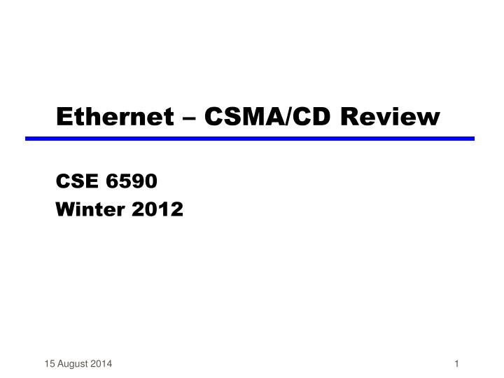 ethernet csma cd review n.
