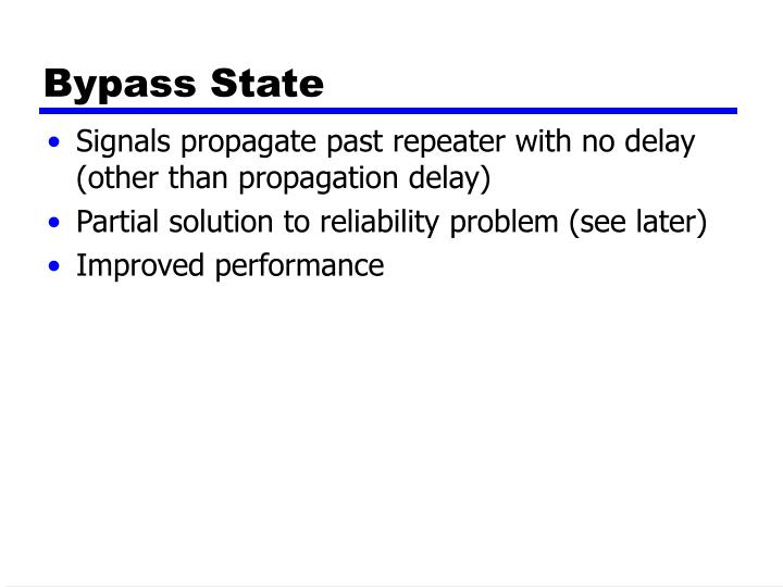 Bypass State