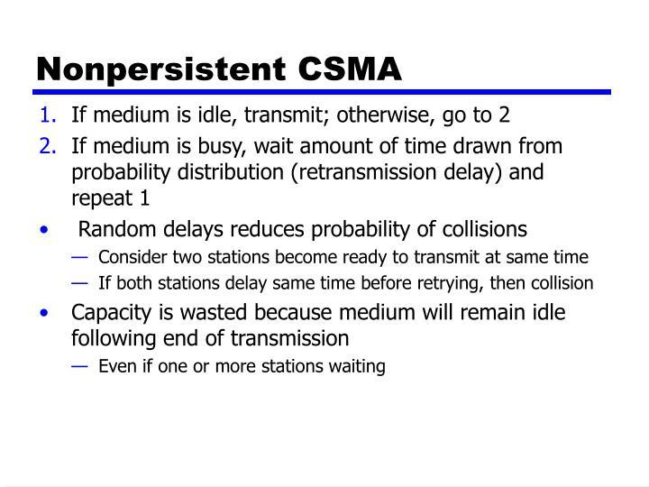 Nonpersistent CSMA