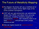 the future of metallicity mapping
