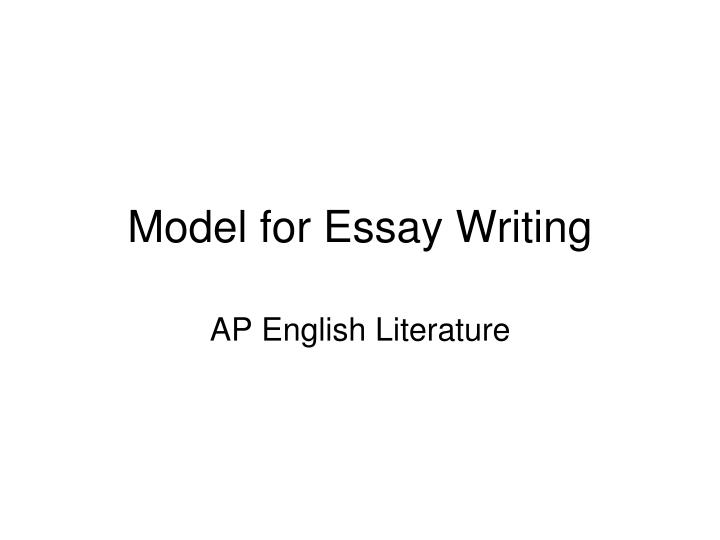 model for essay writing n.