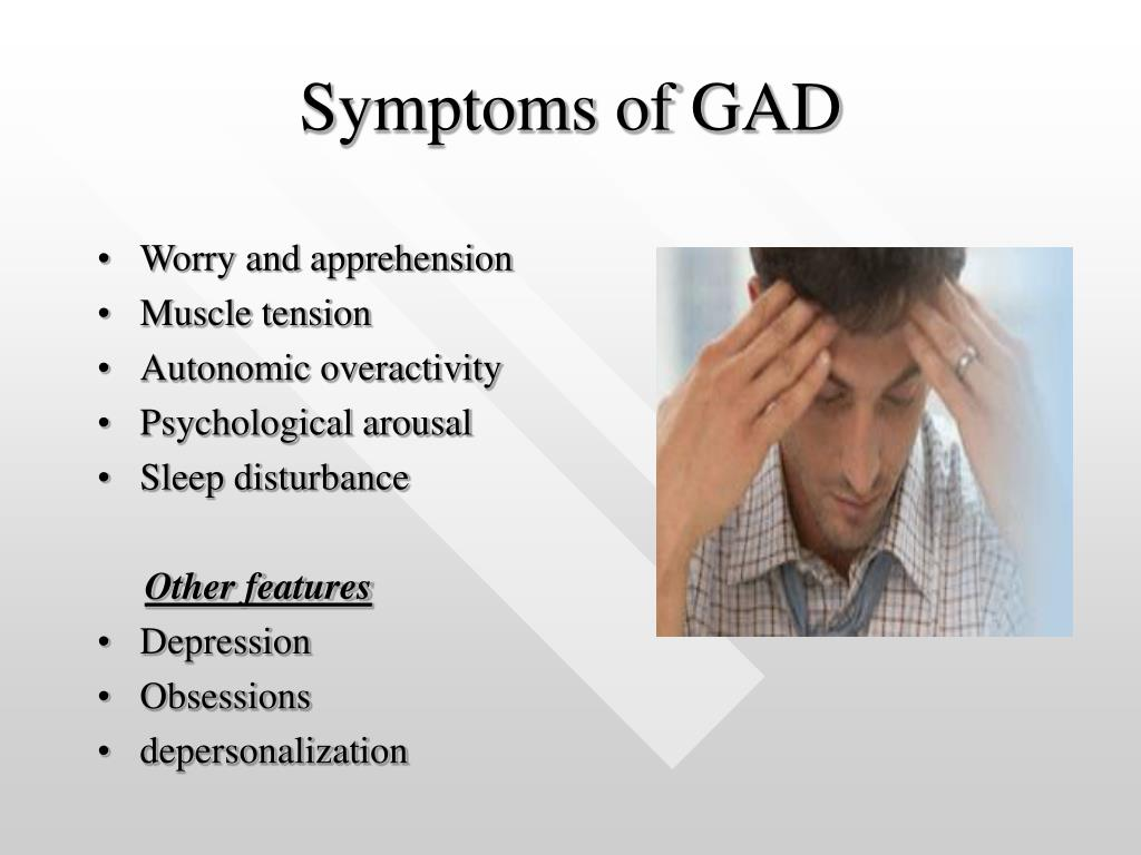 PPT - Generalized anxiety disorder PowerPoint Presentation ...