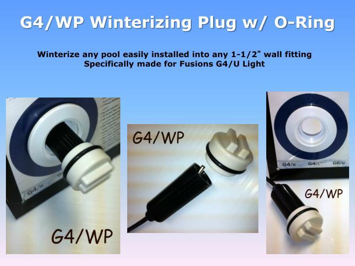 G4/WP Winterizing Plug w/ O-Ring