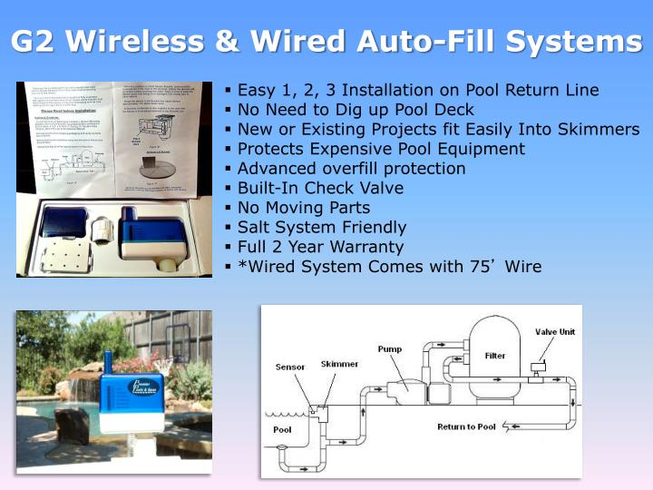 G2 Wireless & Wired Auto-Fill Systems
