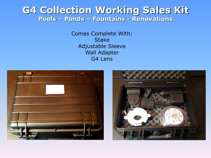G4 Collection Working Sales Kit