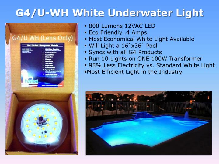 G4/U-WH White Underwater Light