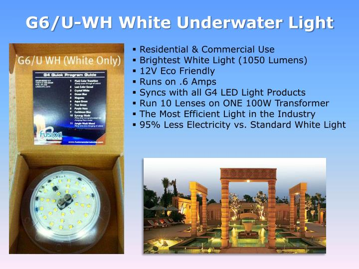 G6/U-WH White Underwater Light
