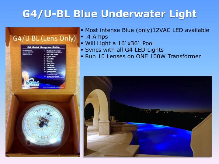 G4/U-BL Blue Underwater Light