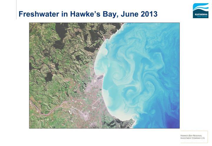 Freshwater in Hawke's Bay, June 2013