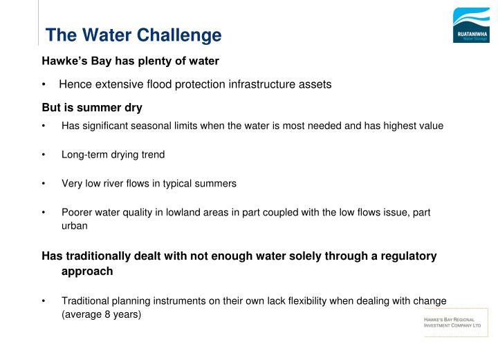 Hawke's Bay has plenty of water