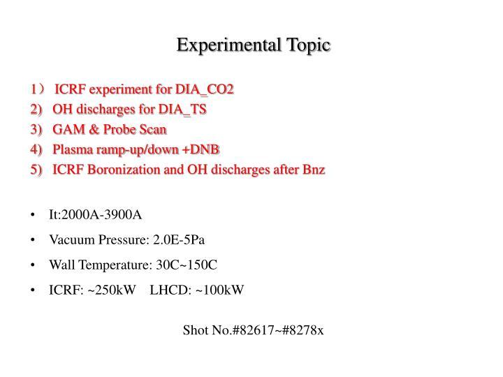 Experimental Topic