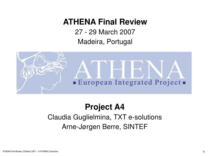 Project a4 claudia guglielmina txt e solutions arne j rgen berre sintef