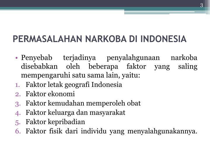 Permasalahan narkoba di indonesia