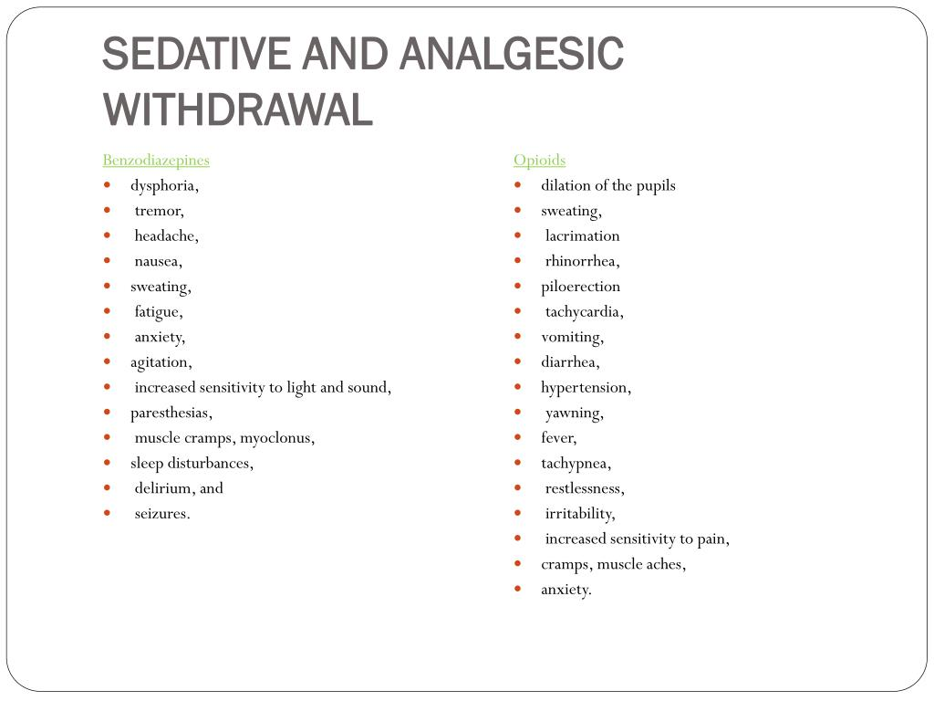 PPT - Sedation and analgesia in the ICU PowerPoint Presentation - ID