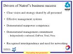 drivers of natref s business success