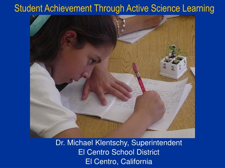 student achievement through active science learning n.