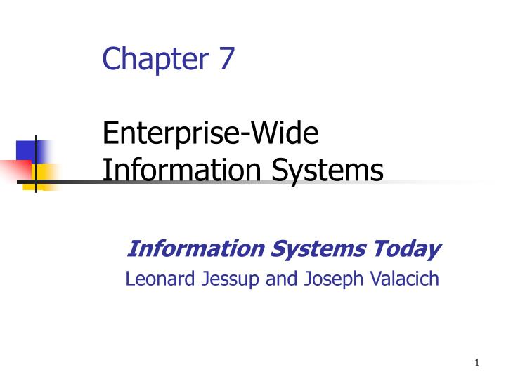 chapter 7 enterprise wide information systems n.